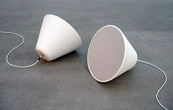 Ceramic cone speaker by designer Broberg Ridderstrale