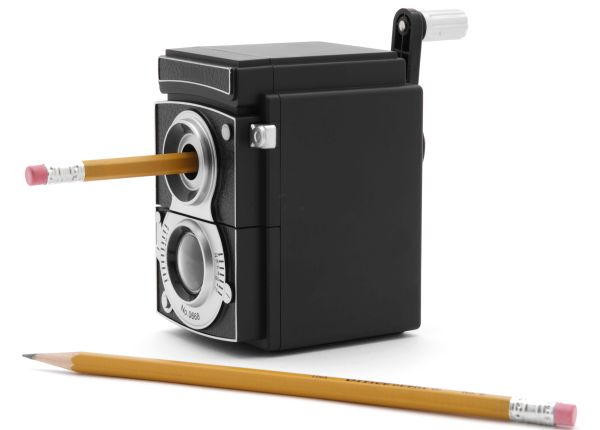 Vintage camera pencil sharpener