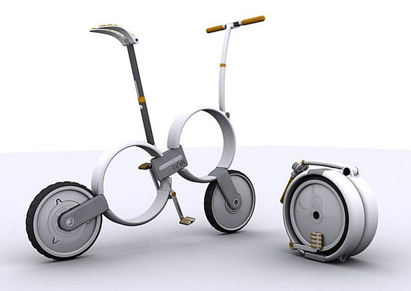 Foldable bicycle design with pedal assist tech – One