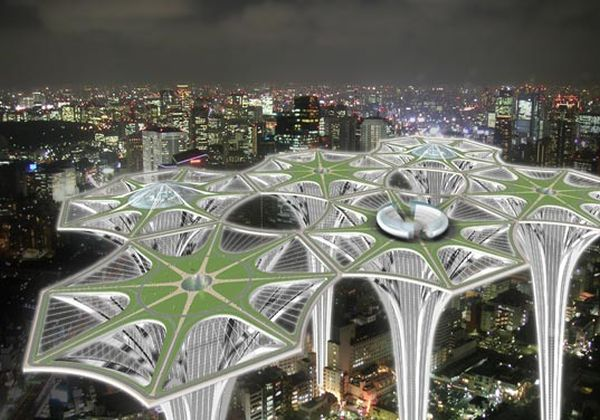 Sky-Terra Towers Sprout Cities in the skies