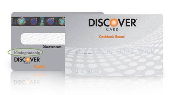 Biodegradable Credit Card