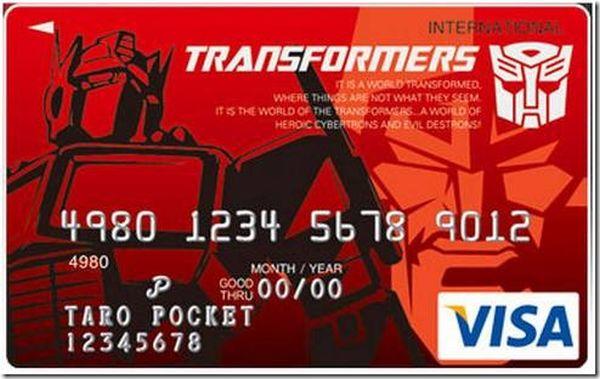 Transformers Credit Card