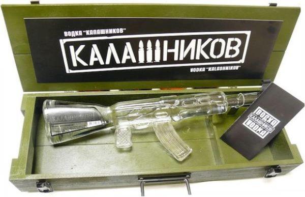 Kalashnikov Vodka Bottle