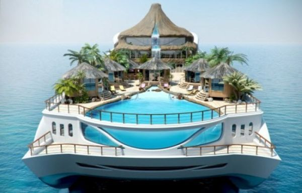 Private Yacht as Tropical Island