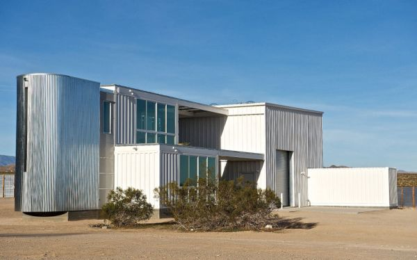 Shipping Container House in Mojave Desert
